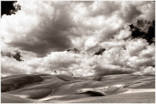 Clouds and Dunes, Great Sand Dunes #5