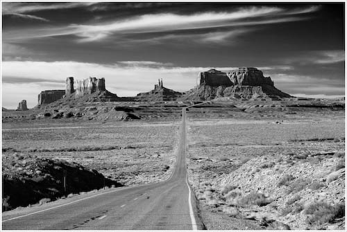 Road to Monument Valley, AZ