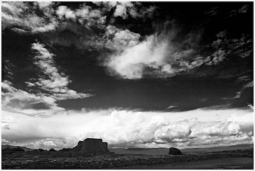 Storm over Pecos National Monument, NM
